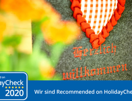 Recommended on HolidayCheck 2020 – Ferienwohnungen Haus Sebastian