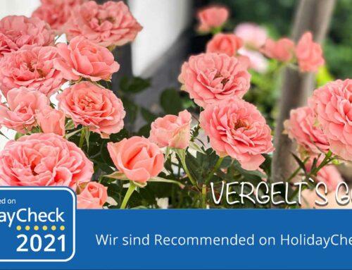 Recommended on HolidayCheck 2021 – Ferienwohnungen Haus Sebastian